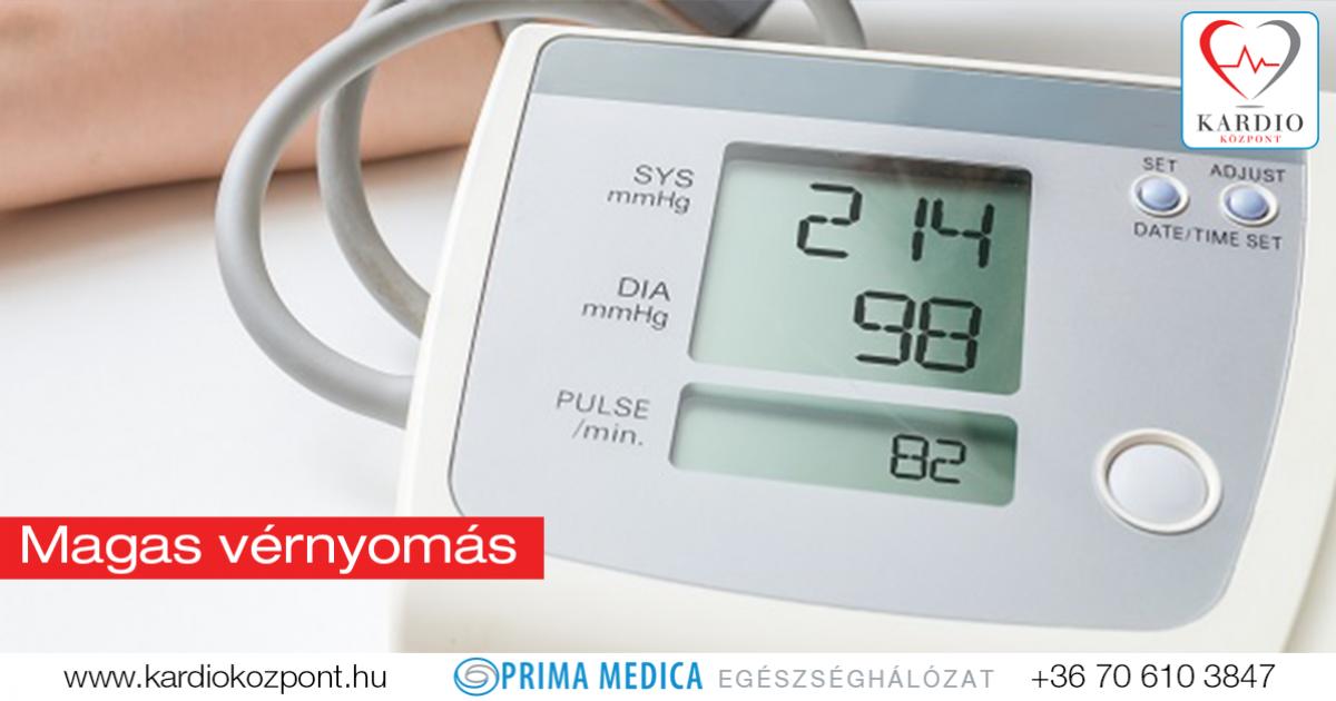 mekkora a magas vérnyomás kockázata
