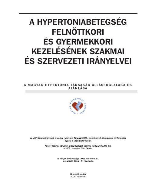 törzskönyvi hipertónia cukorbetegség magas vérnyomás diéta