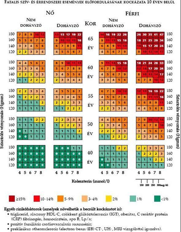 közepes magas vérnyomás 2 fokozat skarlátvörös vérnyomás